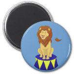 Imán del león del circo del dibujo animado
