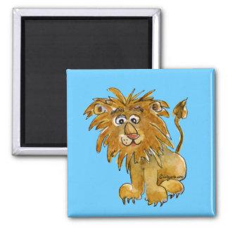 Imán del león del dibujo animado a personalizar