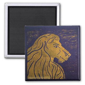 Imán del león (oro y negro)