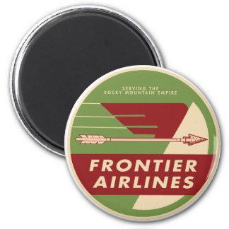 Imán del logotipo de Frontier Airlines del vintage