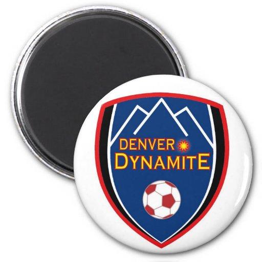 Imán del logotipo de la dinamita de Denver