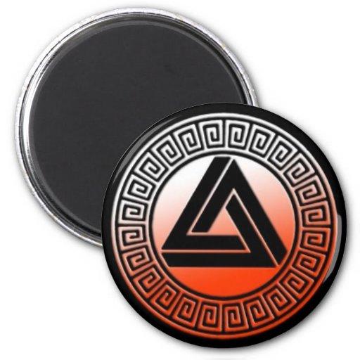 Imán del logotipo de la naranja de sangre