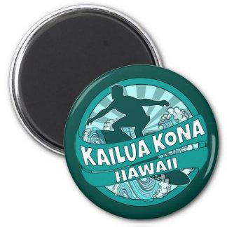 Imán del logotipo de la persona que practica surf