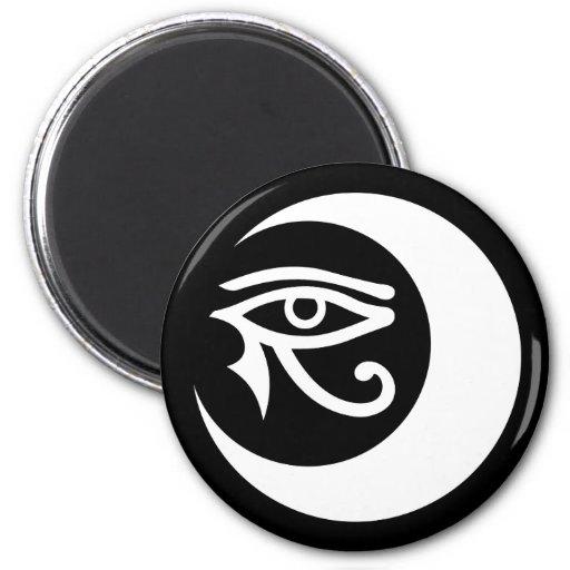 Imán del logotipo de LunaSees (blanco/ojo morado