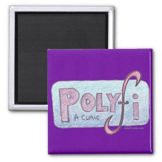 Imán del logotipo de PolyFi