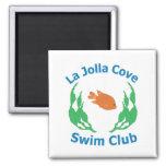 Imán del logotipo del club de la nadada de la ense