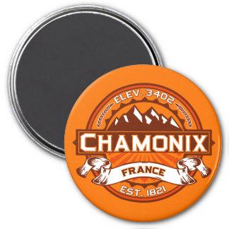 Imán del logotipo del color de Chamonix