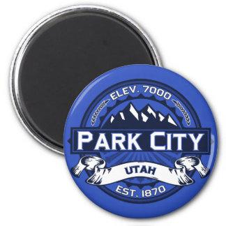 Imán del logotipo del color de Park City