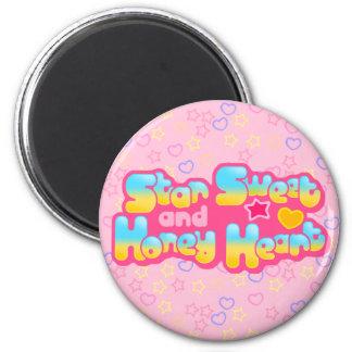Imán del logotipo del corazón del dulce y de la mi