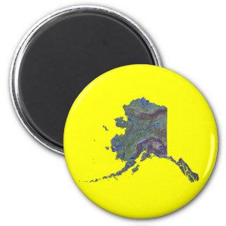 Imán del mapa de Alaska