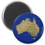 Imán del mapa de Australia