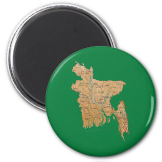 Imán del mapa de Bangladesh