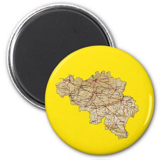 Imán del mapa de Bélgica