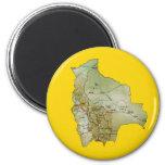 Imán del mapa de Bolivia