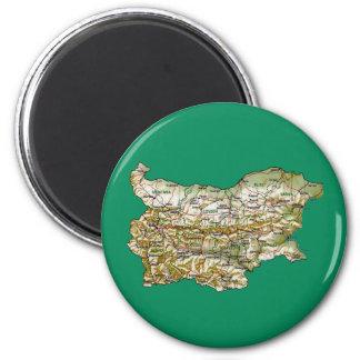 Imán del mapa de Bulgaria