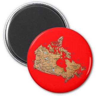 Imán del mapa de Canadá