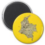Imán del mapa de Colombia