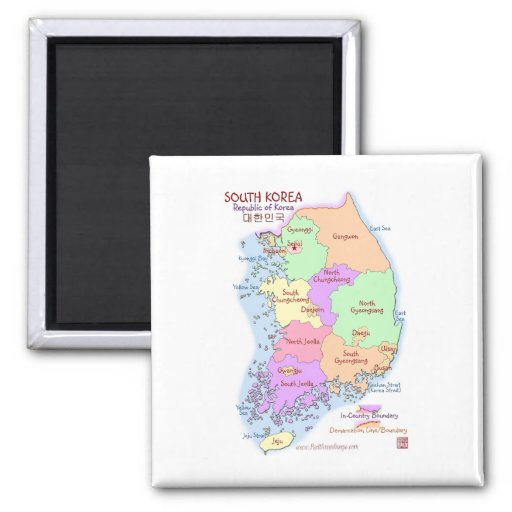 Imán del mapa de Corea