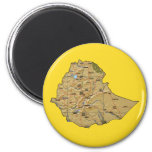 Imán del mapa de Etiopía