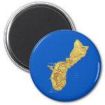 Imán del mapa de Guam