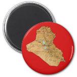 Imán del mapa de Iraq