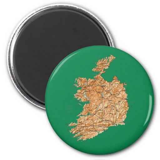 Imán del mapa de Irlanda