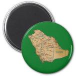 Imán del mapa de la Arabia Saudita