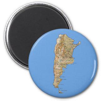 Imán del mapa de la Argentina