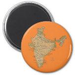 Imán del mapa de la India