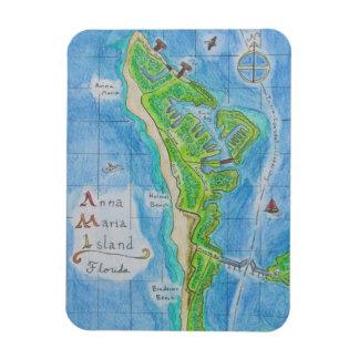 Imán del mapa de la isla de Ana Maria