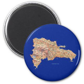 Imán del mapa de la República Dominicana