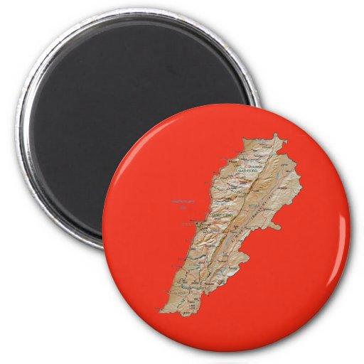Imán del mapa de Líbano