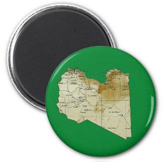 Imán del mapa de Libia
