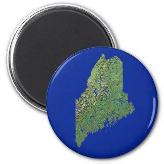 Imán del mapa de Maine
