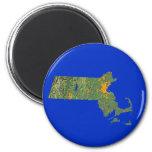 Imán del mapa de Massachusetts
