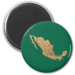 Imán del mapa de México