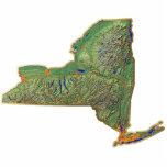 Imán del mapa de Nueva York cortado Escultura Fotografica
