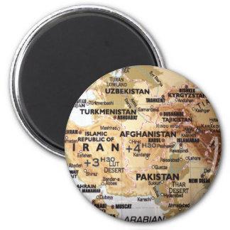 Imán del mapa de Oriente Medio