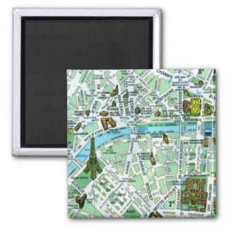 Imán del mapa de París