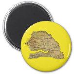 Imán del mapa de Senegal