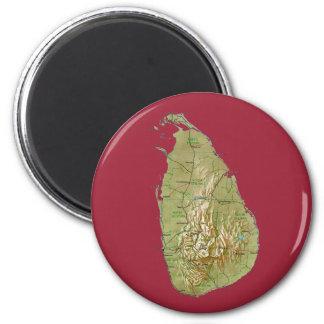Imán del mapa de Sri Lanka
