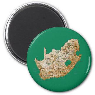 Imán del mapa de Suráfrica