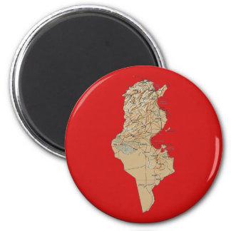 Imán del mapa de Túnez