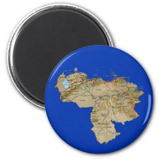 Imán del mapa de Venezuela