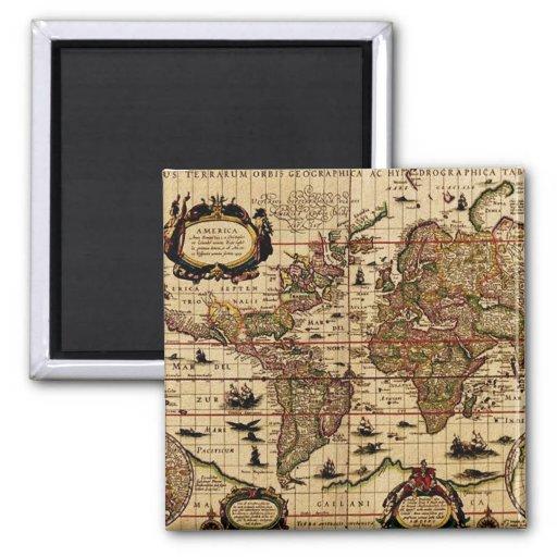 Imán del mapa de Viejo Mundo