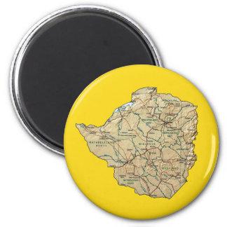 Imán del mapa de Zimbabwe