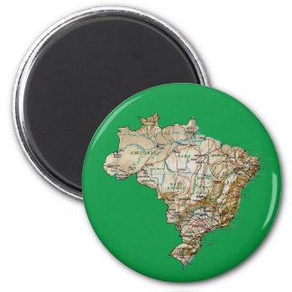 Imán del mapa del Brasil
