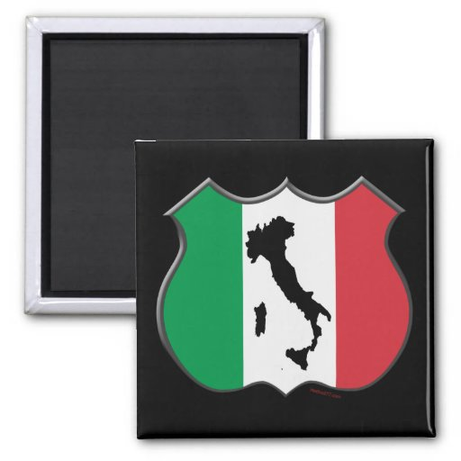 Imán del mapa del escudo de Italia