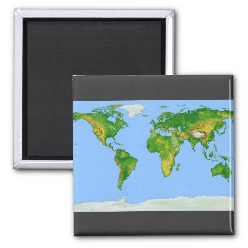 Imán del mapa del mundo