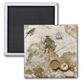 Imán del mapa del pirata